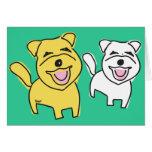 Laughing Doggies Blank Card