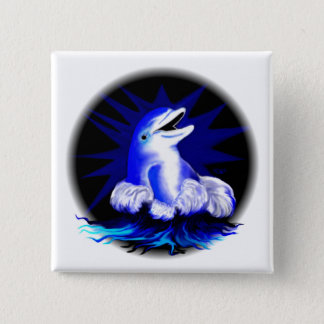 Laughing dolphin button