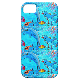 laughing dolphins blue case