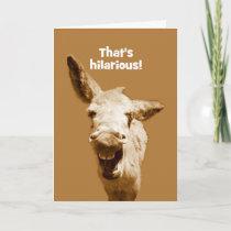 Laughing Donkey Happy Birthday Card