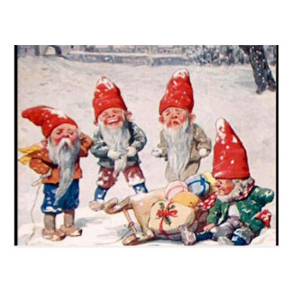 Laughing Elves Postcard