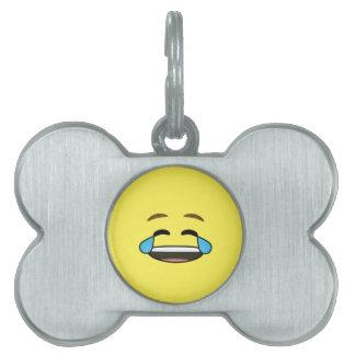 Laughing Emoji Pet Tags
