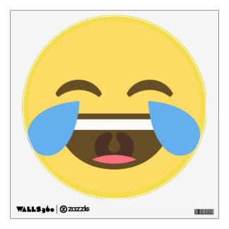Laughing Emoji Wall Decal