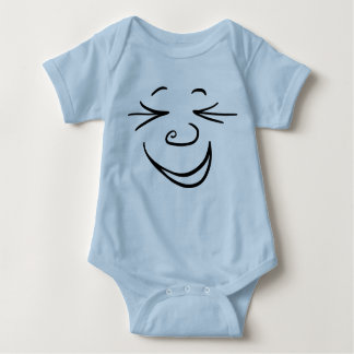 laughing face baby bodysuit