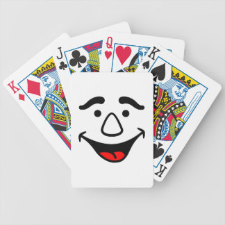Laughing Face Bicycle Playing Cards