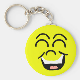 Laughing Face Smiley Keychain