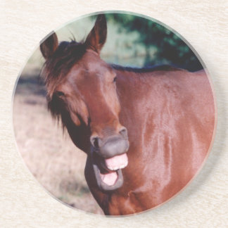 Laughing funny horse Coasters
