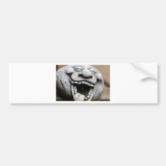 laughing garden gnome of cement car bumper sticker