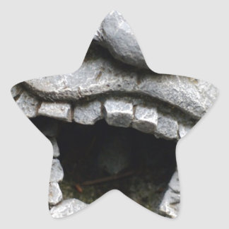 laughing garden gnome of cement star sticker