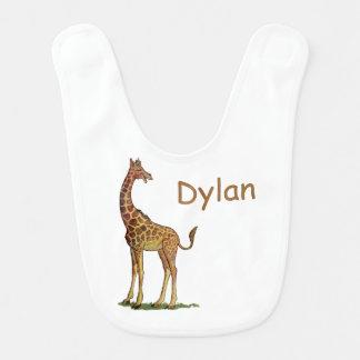 Laughing Giraffe Personalized Baby Bib