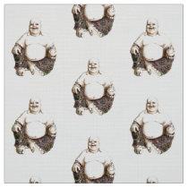 Laughing good luck Buddha pattern Fabric