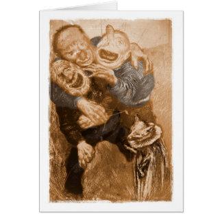 Laughing Grandfather Trolls Card