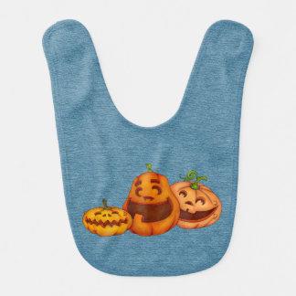 Laughing Halloween Pumpkin Jack O Lanterns Bib