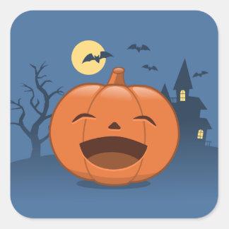 Laughing Halloween Pumpkin Square Sticker