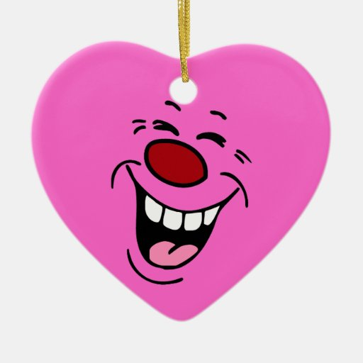 Laughing: Heart Ornament for Balloons or Flowers