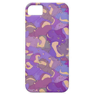 Laughing Hippos - purple iPhone SE/5/5s Case