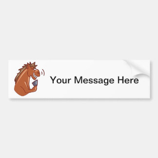 Laughing Horse Bumper Sticker