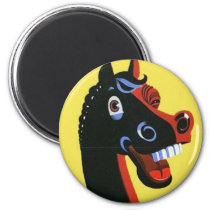 Laughing Horse Magnet