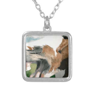 Laughing Horse Square Pendant Necklace
