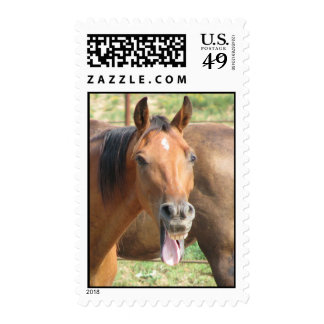 Laughing Horse Postage Stamp