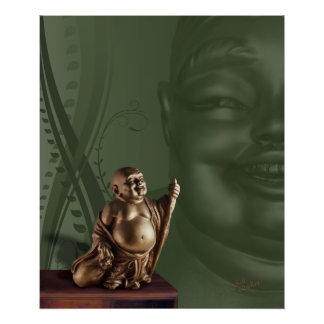 Laughing Hotei Buddah Posters