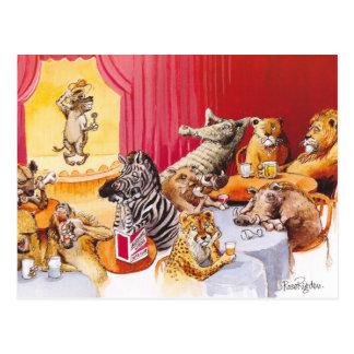 Laughing hyena postcard