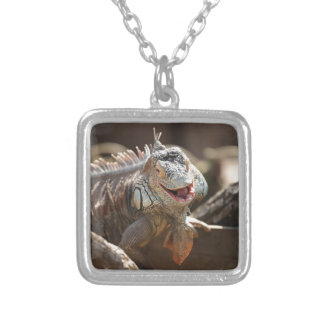 Laughing Iguana Photography Silver Plated Necklace