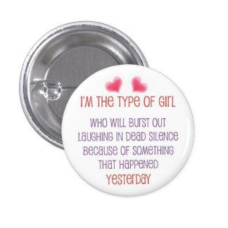 Laughing in Dead Silence Pinback Button