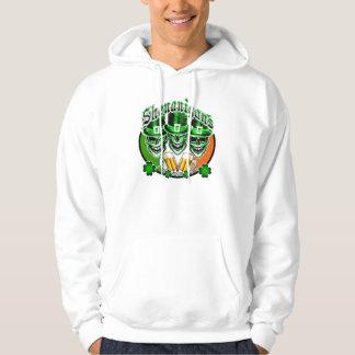 Laughing Irish Leprechaun Skulls: Shenanigans Hoodie