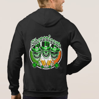 Laughing Irish Leprechaun Skulls: Shenanigans Hoody