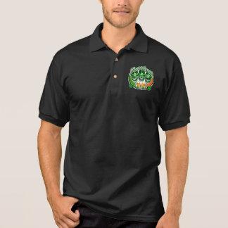 Laughing Irish Leprechaun Skulls: Shenanigans Polo Shirt