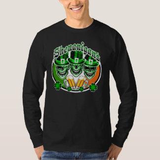Laughing Irish Leprechaun Skulls: Shenanigans T-Shirt