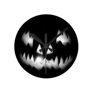Laughing Jack O' Lantern by Bob Markin Round Clock