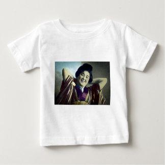 Laughing Japanese Girl Vintage Baby T-Shirt