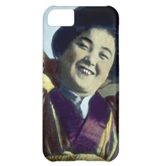Laughing Japanese Girl Vintage Case For iPhone 5C