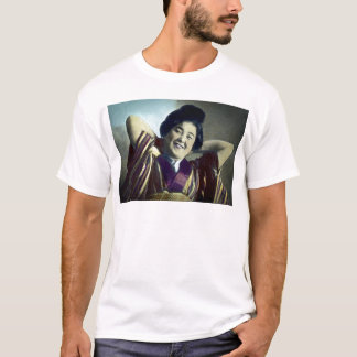 Laughing Japanese Girl Vintage T-Shirt