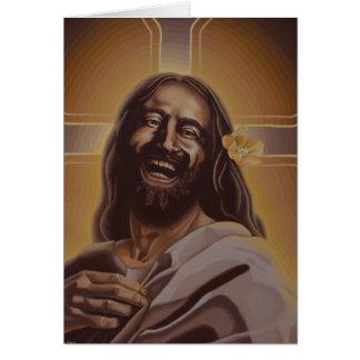 Laughing Jesus Card