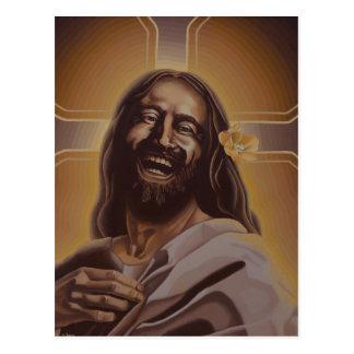Laughing Jesus post card