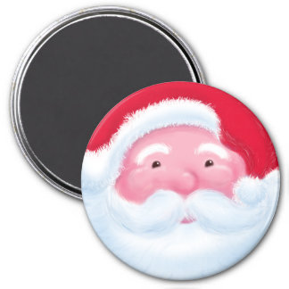 Laughing Jolly Father Christmas Magnet