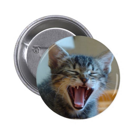 Laughing Kitten 2 Inch Round Button