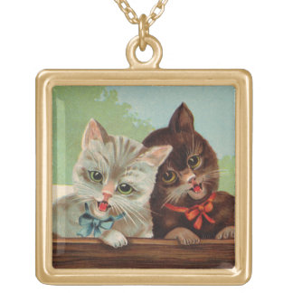 Laughing Kittens Necklace