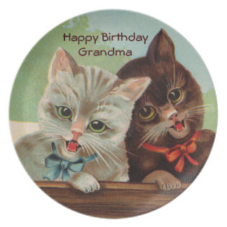 Laughing Kittens Plate