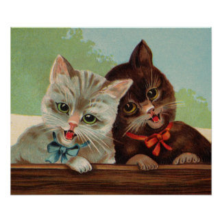 Laughing Kittens Poster