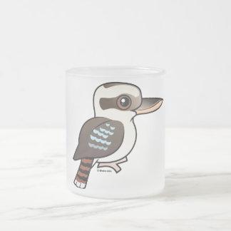 Laughing Kookaburra Frosted Glass Coffee Mug