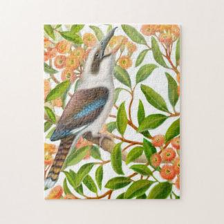 Laughing Kookaburra in Gum Tree Puzzle