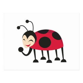 Laughing Ladybug Postcard