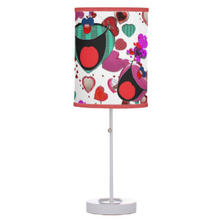 Laughing lamp smiley heart faces