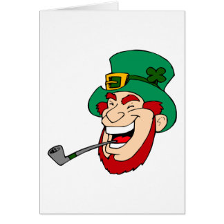 Laughing Leprechaun Card
