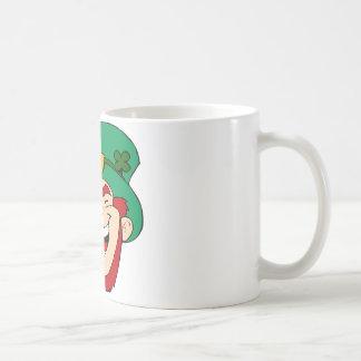 Laughing leprechaun coffee mug