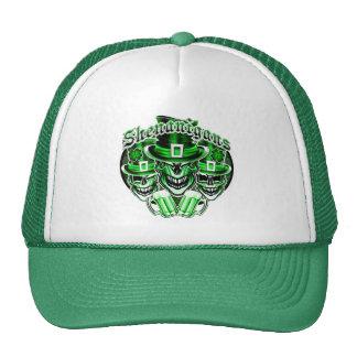 Laughing Leprechaun Skulls: Shenanigans 3 Trucker Hat